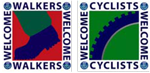 Walkers-Cyclists-Welcome